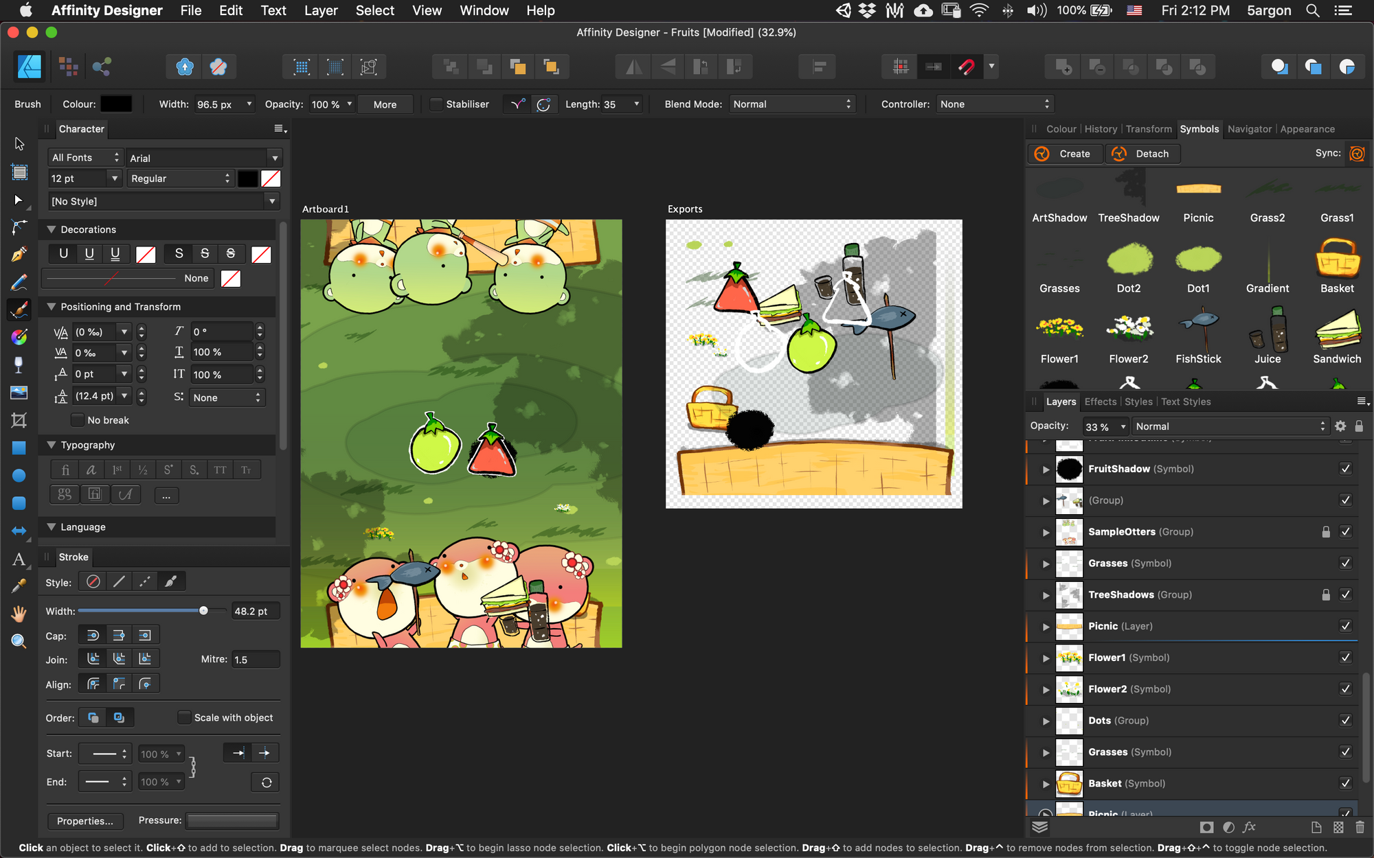 Unity 2D asset pipeline with Affinity Designer